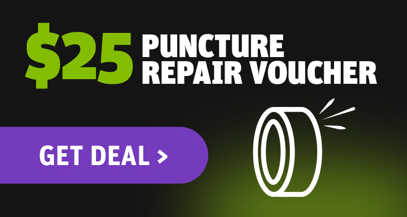 $25 puncture repair voucher